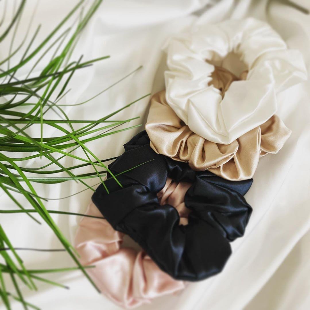 June The Six Large Silk Scrunchies