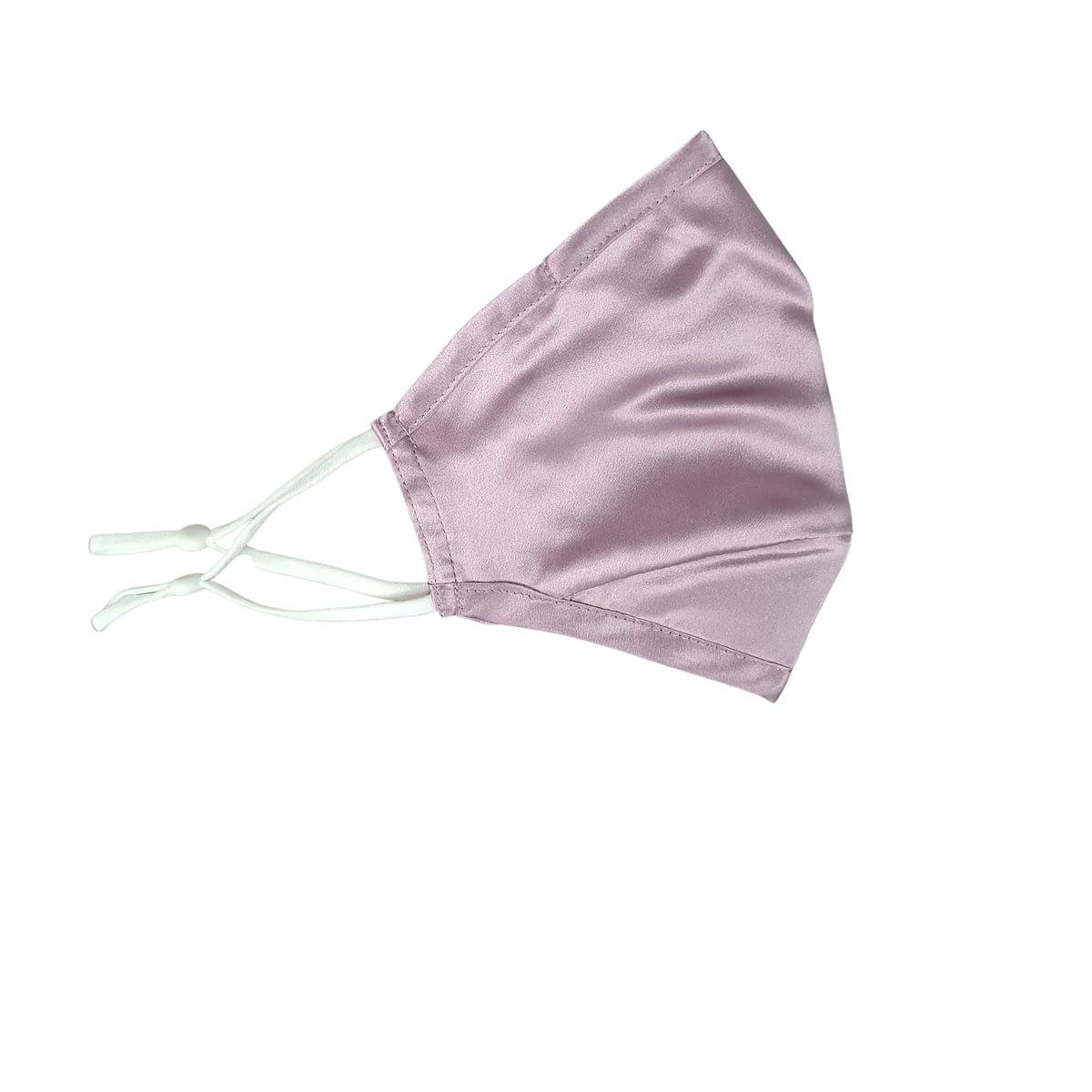 Singapore Silk Lilac Satin Face Mask