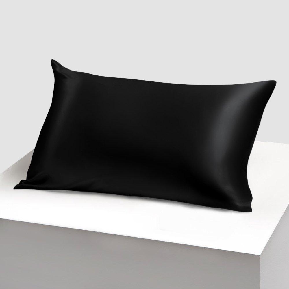 Pure silk pillowcase Black