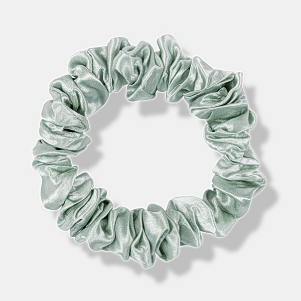 Medium Silk Scrunchie Mint Green