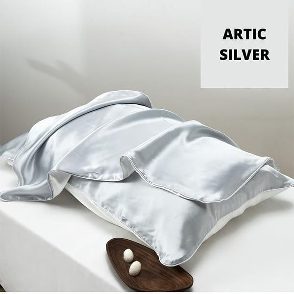 Silver Silk Tencel Pillowcase