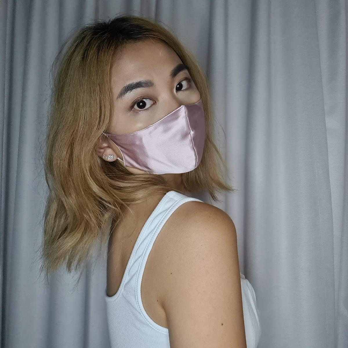 Best Blush Pink Silk Face Mask