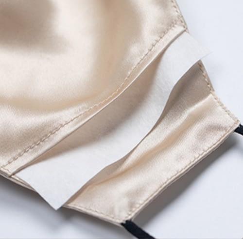 Silk Face Mask Filter Pocket June The Six