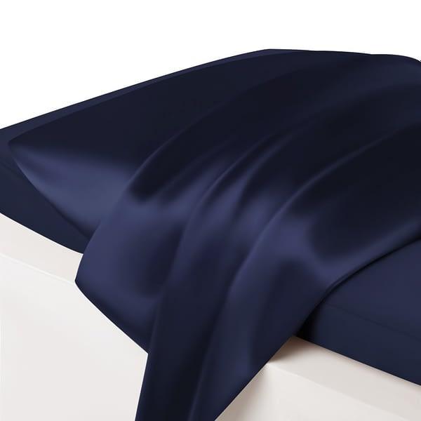 Navy Silk Pillowcase