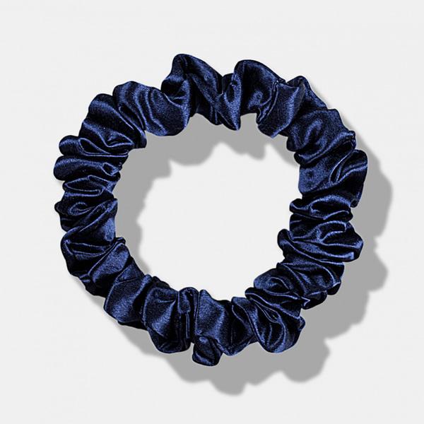 Medium Silk Scrunchie Navy