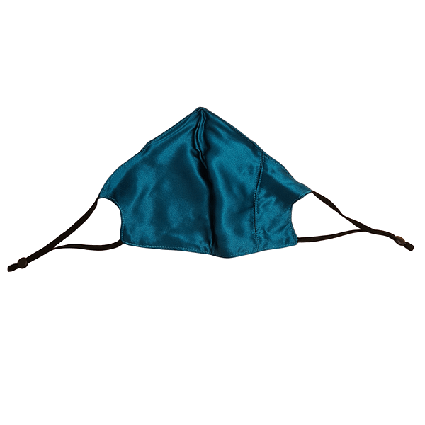 Turquoise Mulberry Silk Face Mask