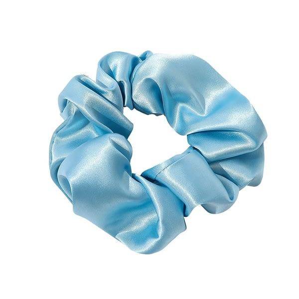 Sky Blue Silk Scrunchie