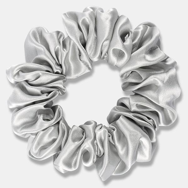 Large Silk Scrunchie Silver Singapore