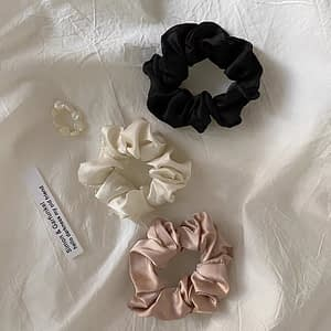 Large Silk Scrunchie Pack