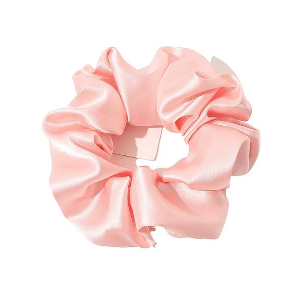 Pink Silk Scrunchie Big Large