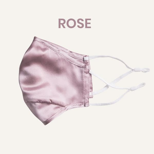 Rose Mulberry Silk Face Mask