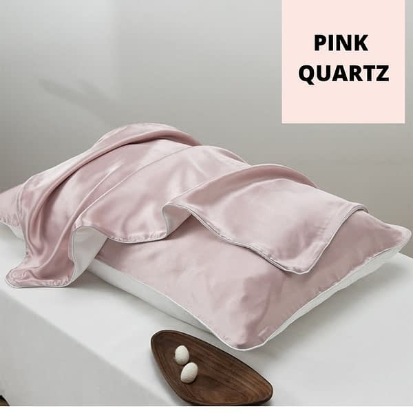 Pink Silk Tencel Pillowcase