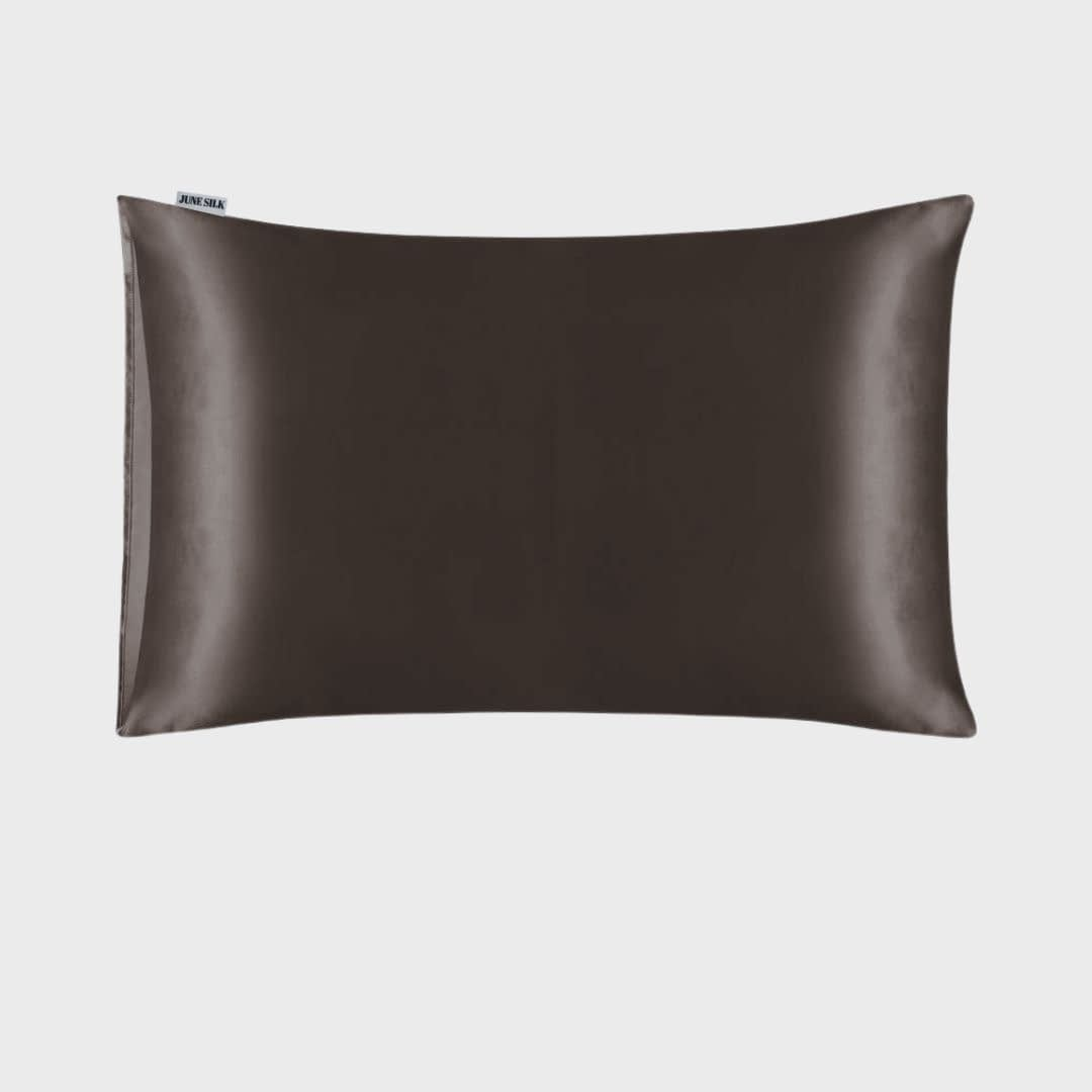 Charcoal Grey Silk Pillowcase