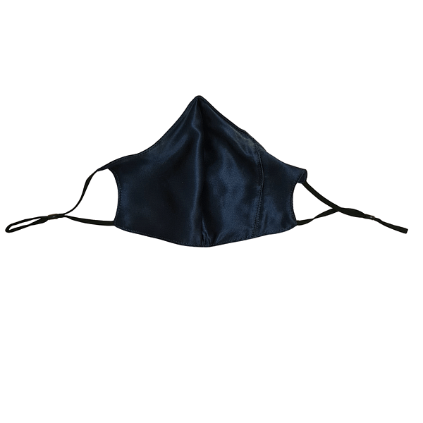 Silk Face Mask Navy