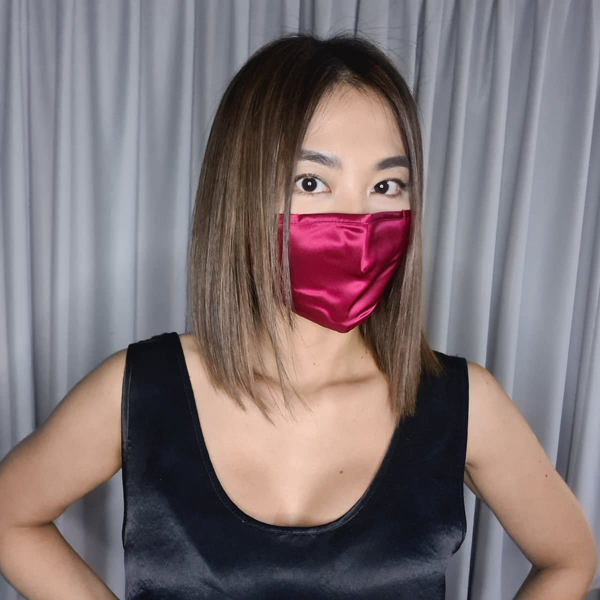 Mulberry Silk Face Mask Burgundy