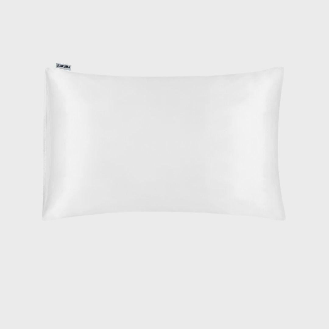 June Silk White Pillowcase