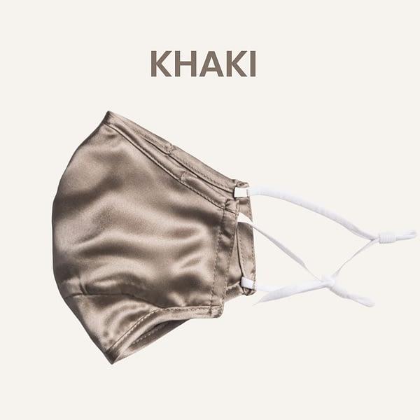 Khaki Silk Face Mask