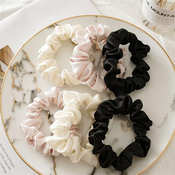 Medium Silk Scrunchies Set Singapore