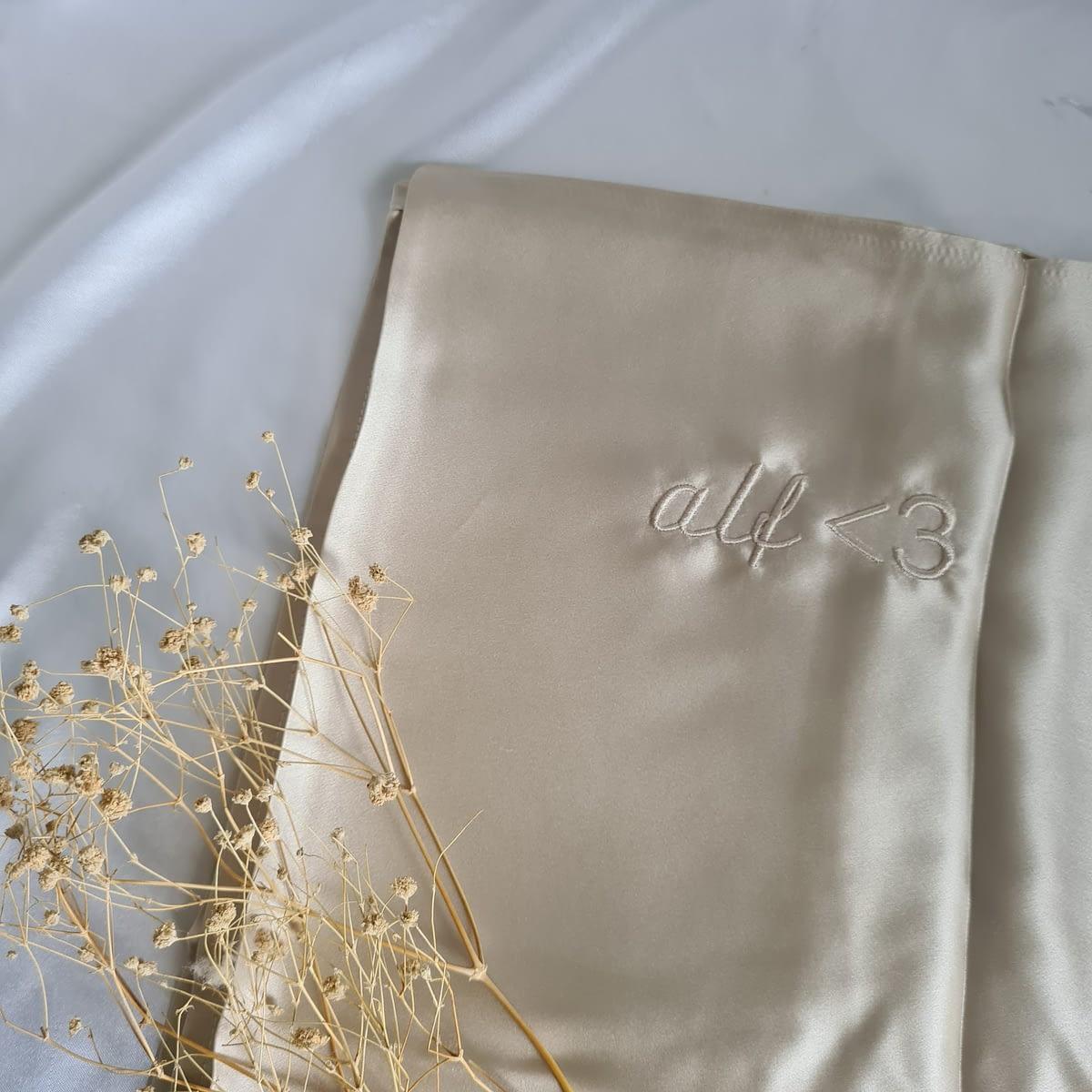 Champagne Silk Pillowcase Singapore