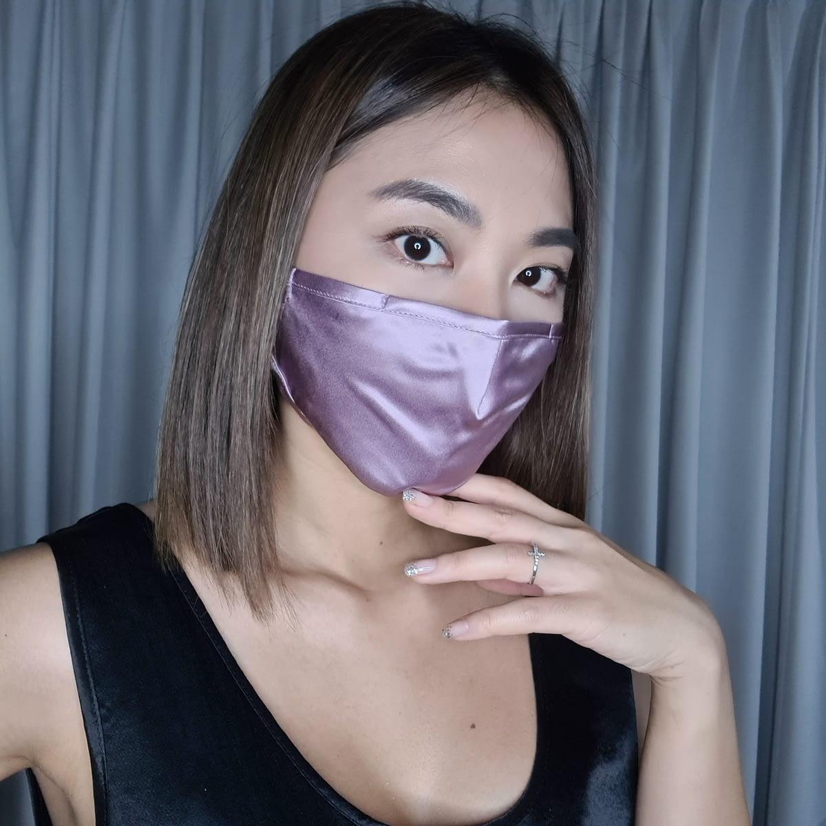 Silk Face Mask Lilac Singapore