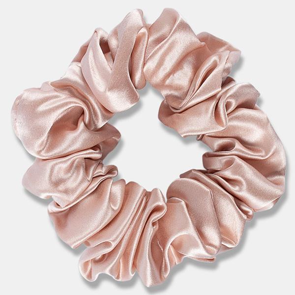 Large Silk Scrunchie Rose Gold Singapore